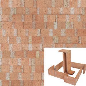 Plaqueta Semimanual Cuero Raspada 22×6,5×1,5cm Refrentada