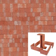 Plaqueta Semimanual Roja Raspada 22×6,5×1,5cm Refrentada 1