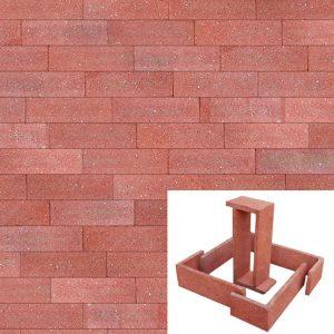 Plaqueta Semimanual Roja Arenosa 22×6,5x1cm Refrentada