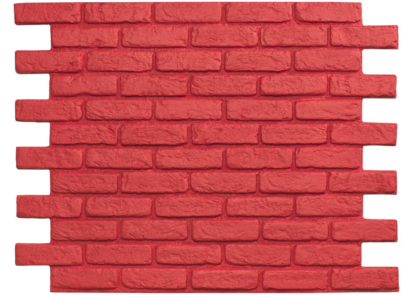 Brique Rouge Parement Mur En Briques Panneau Decoratif Parement