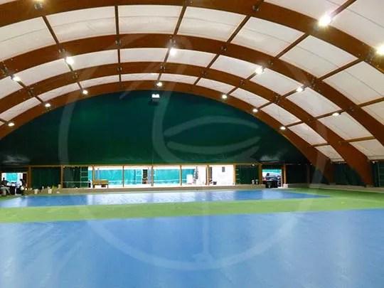 Натяжная структура для 2 теннисных кортов
