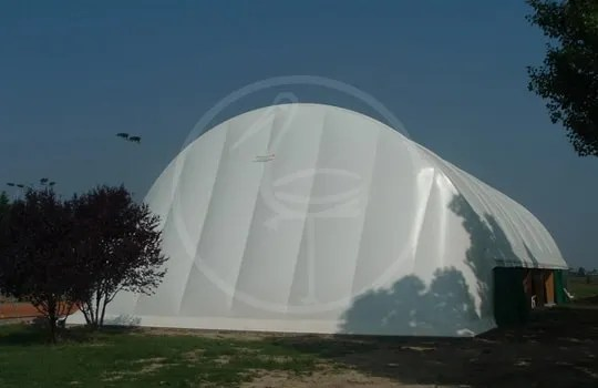 Double membrane wooden tent structure - Misano Adriatico ( Italy )