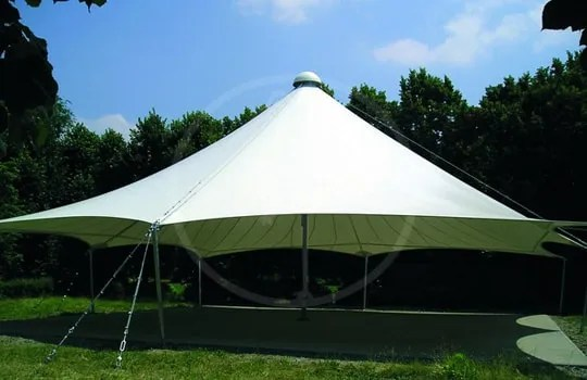 Tensile structure to shade park