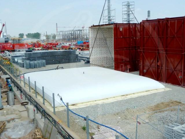 cisterna flessibile 500 mc per collaudo idraulico