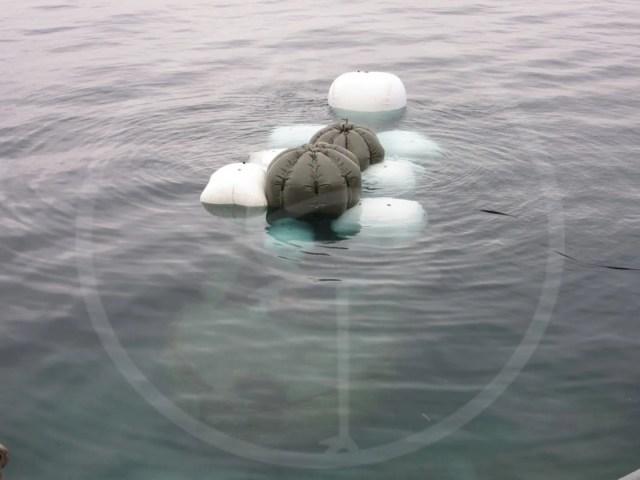 Recupero marino relitto nel lago di Garda