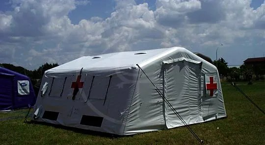 Italian Red Cross inflatable tent