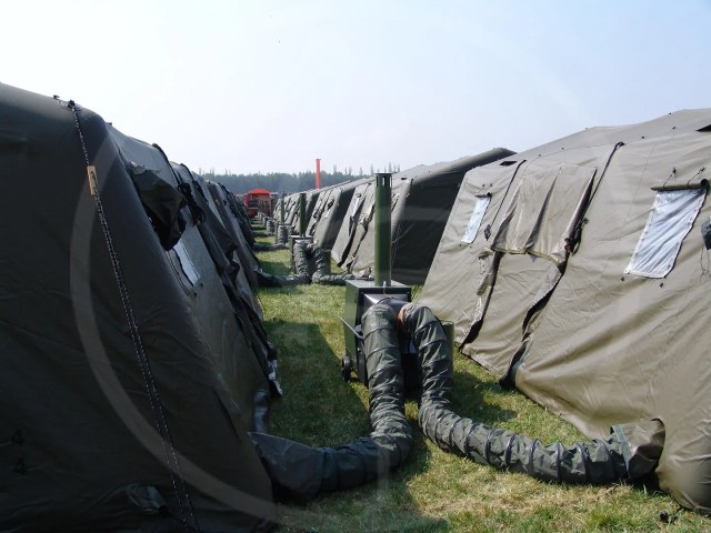 inflatable tent connections detail