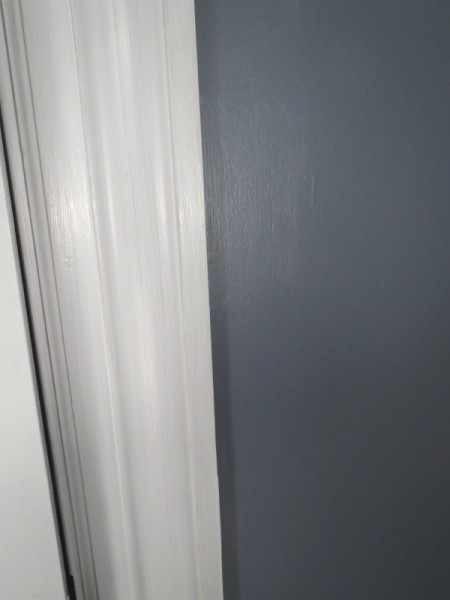 White trim and dark walls -- Plaster & Disaster