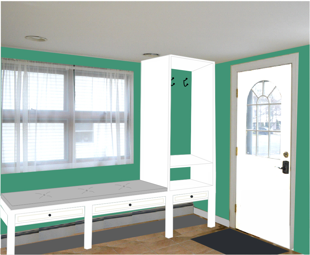 Advice for the Sunroom - Mudroom Storage - Plaster & Disaster