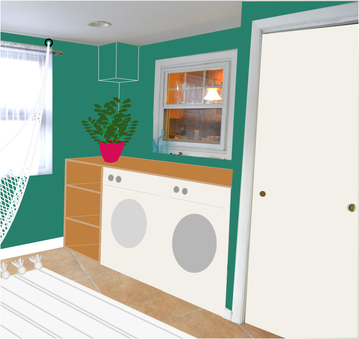 Advice for the Sunroom - Mudroom Washer Dryer - Plaster & Disaster