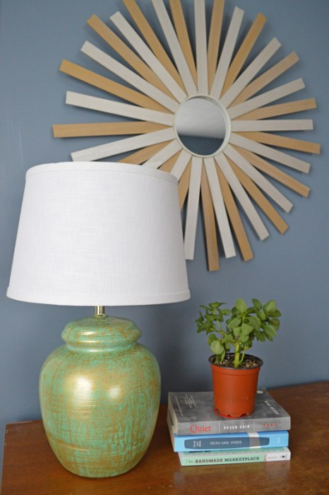 Thrift store lamp makeover -- Plaster & Disaster