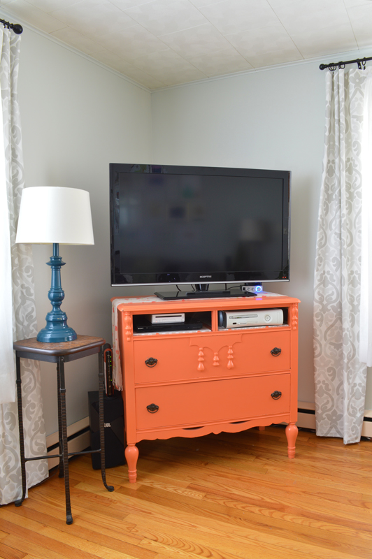 Furniture Makeover From Dresser To Tv Stand Plaster Disaster