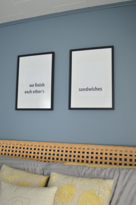 We Finish Each Other's Sandwiches Bedroom Art -- Plaster & Disaster