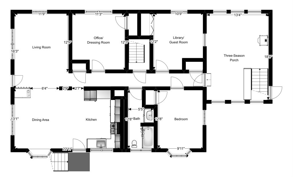 Naomi Floor Plan - Main Floor - Plaster & Disaster