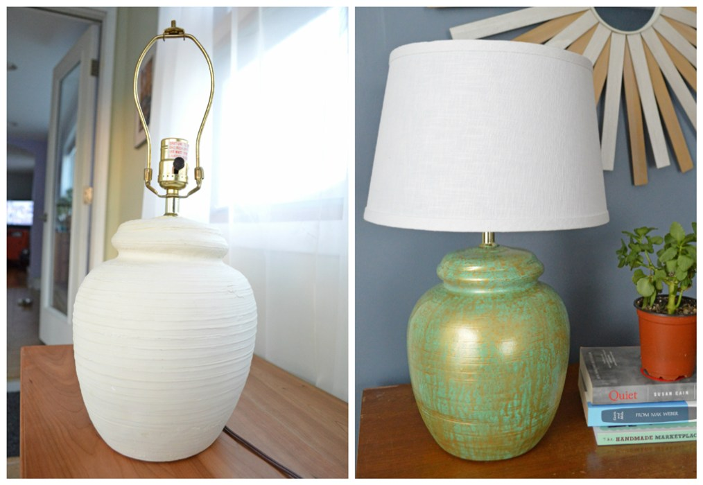 Thrift store lamp makeover -- Plaster & Disaster