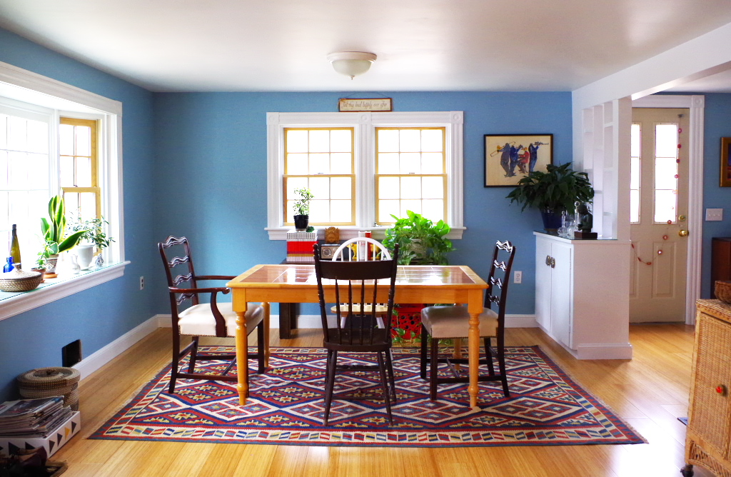 Picking a Dining Room Chandelier - Dining Room From Kitchen Now - Plaster & Disaster