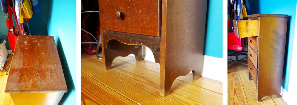 Furniture Makeover - Before Details - Plaster & Disaster
