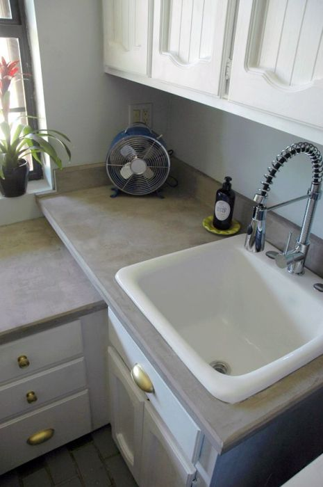 DIY concrete counters -- Plaster & Disaster