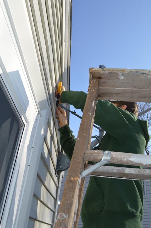 Removing a satellite dish -- Plaster & Disaster