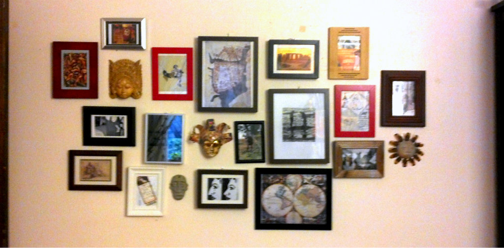 Gallery wall from my old apartment bedroom - Plaster & Disaster