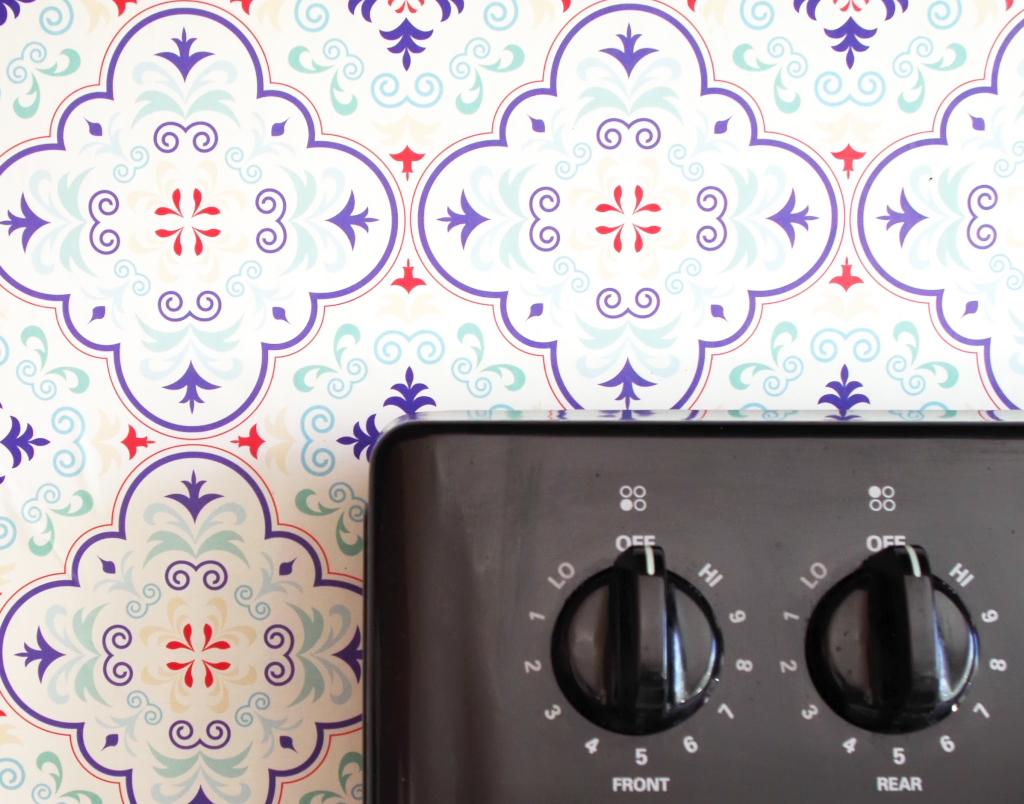 Temporary Backsplash Using Renters Wallpaper – Plaster & Disaster