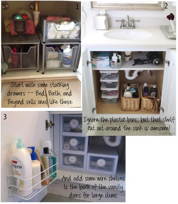 Vanity storage ideas -- Plaster & Disaster