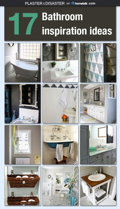 Bathroom inspiration at Hometalk -- Plaster & Disaster