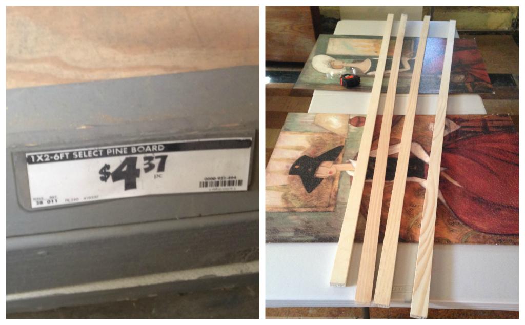 DIY - Easy wood picture frames -- Plaster & Disaster