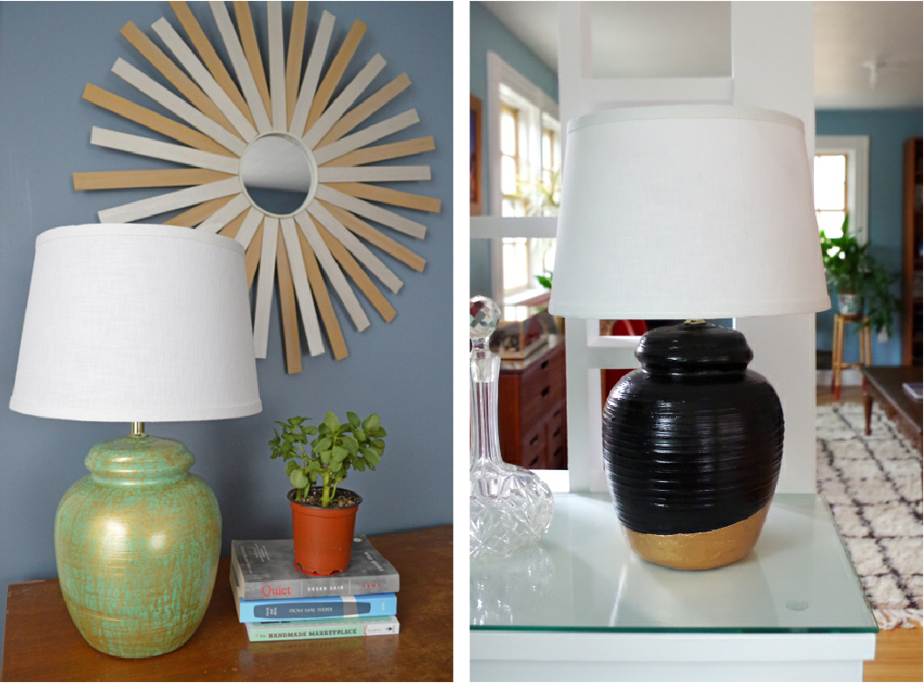 Dual Makeover of Thrift Store Lamps - Plaster & Disaster