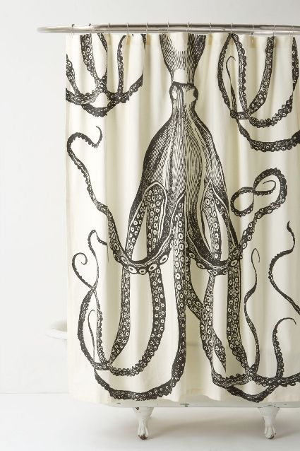 Octopus Garden Shower Curtain by Anthropologie - seen on Plaster & Disaster