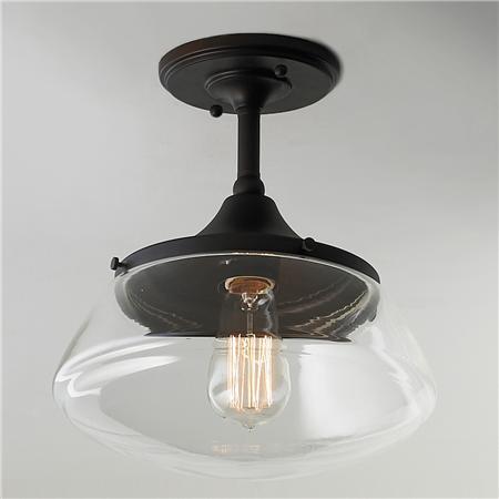 Semi-flushmount light -- Plaster  Disaster