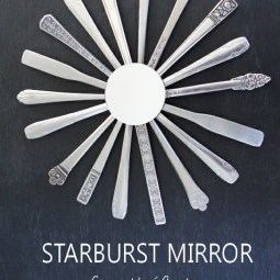 Starburst Mirror out of Silverware DIY - Plaster & Disaster