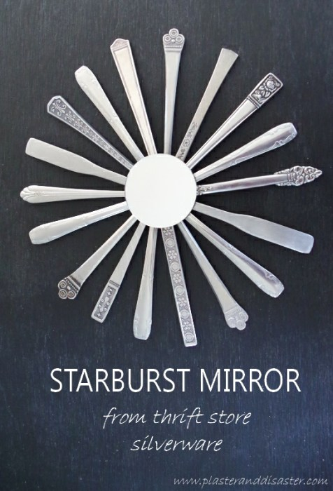Starburst Mirror out of Silverware DIY - Plaster & Disaster