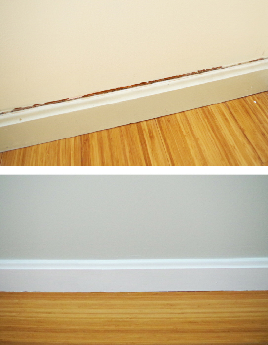 Updates In The Library Caulk And Paint Along The Baseboards