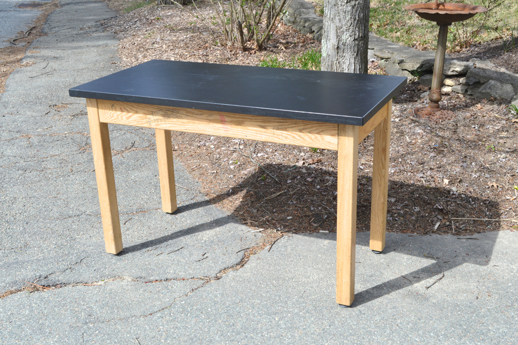 Salvaged lab table -- Plaster & Disaster