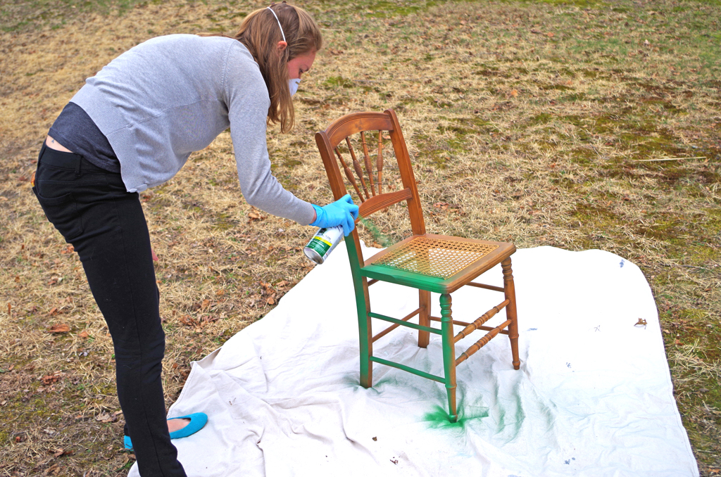 bold twotoned cane chair makeover plaster u0026 disaster