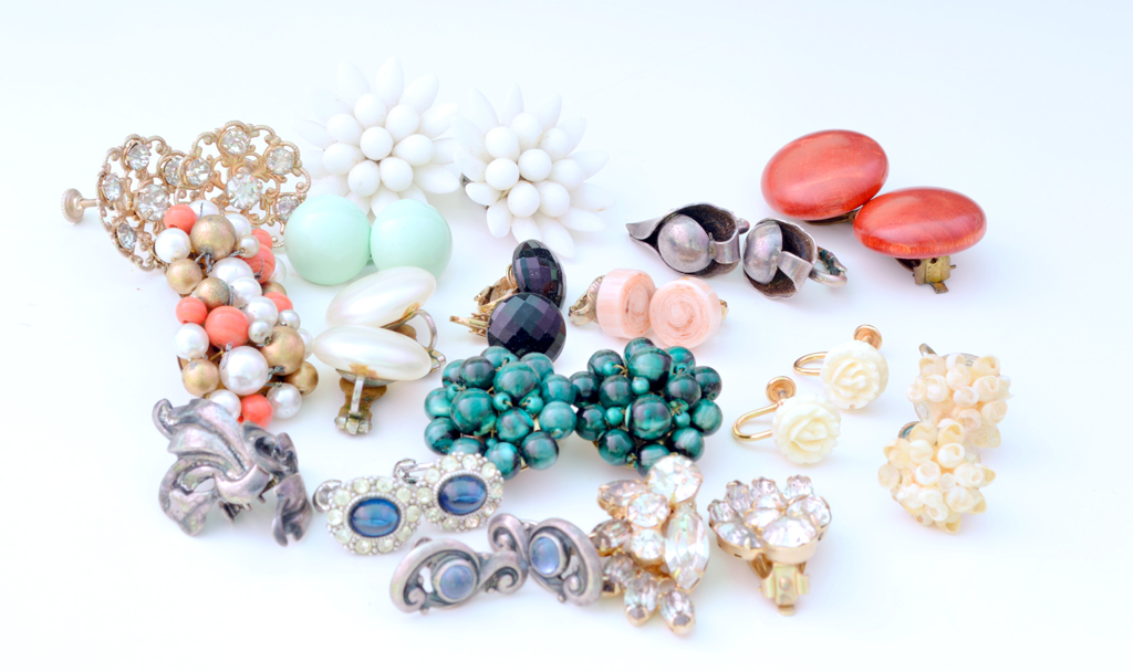 Making Vintage Clip On Earrings Wearable Plaster Disaster