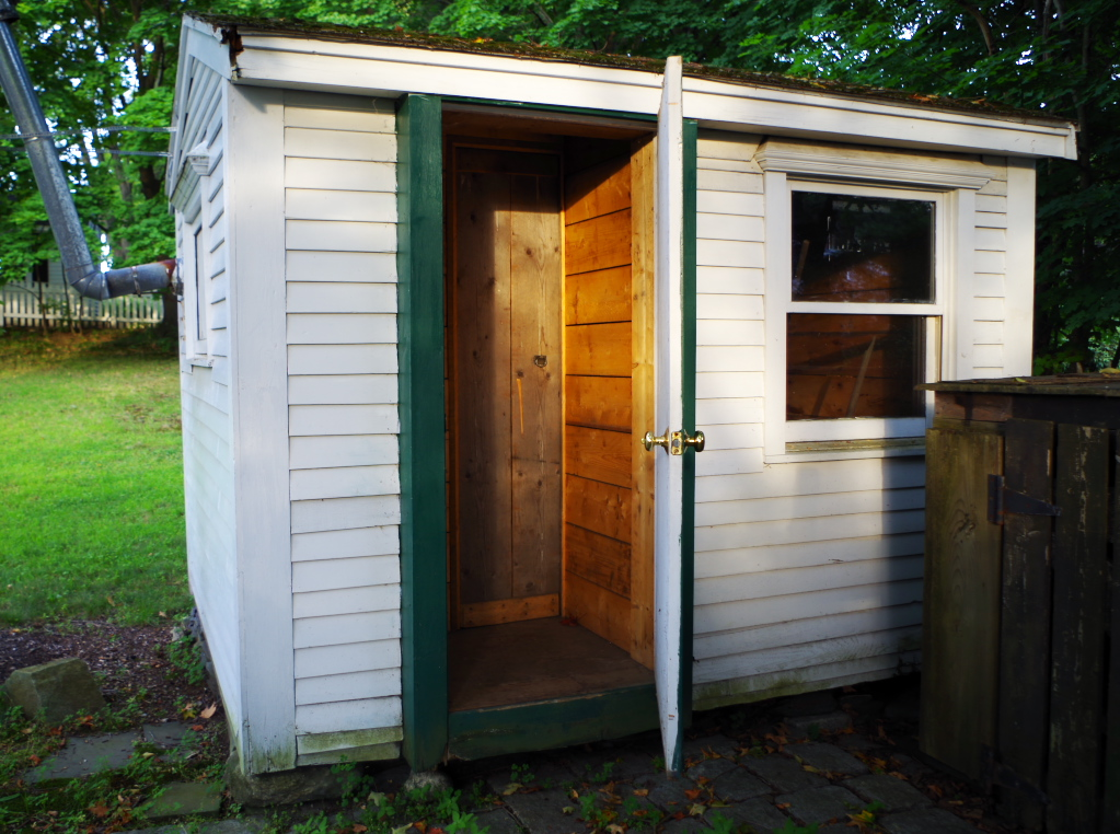 Disaster confessional - my shed's double entry-way - Plaster & Disaster