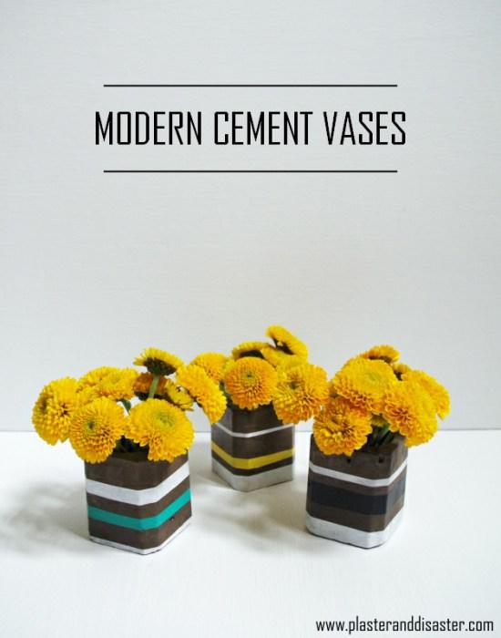 Modern Cement Vases - Plaster & Disaster