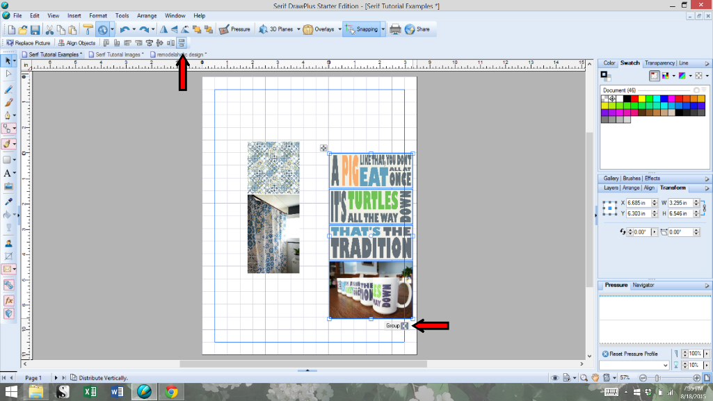 How I Use Serif Drawplus For Blogging Grouping Images 3 Plaster