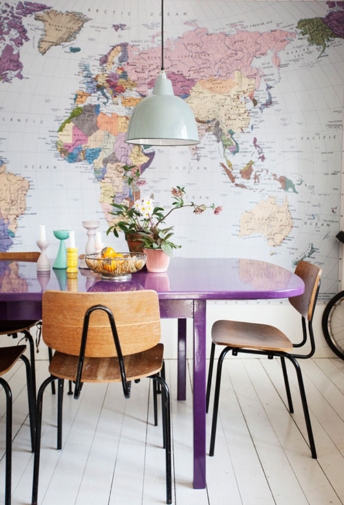 Rooms: Our Worldly Guest Room (aka How To Hang A Map Mural