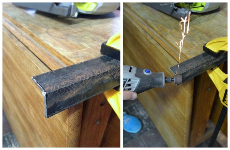 DIY metal modern coffee table -- Plaster & Disaster
