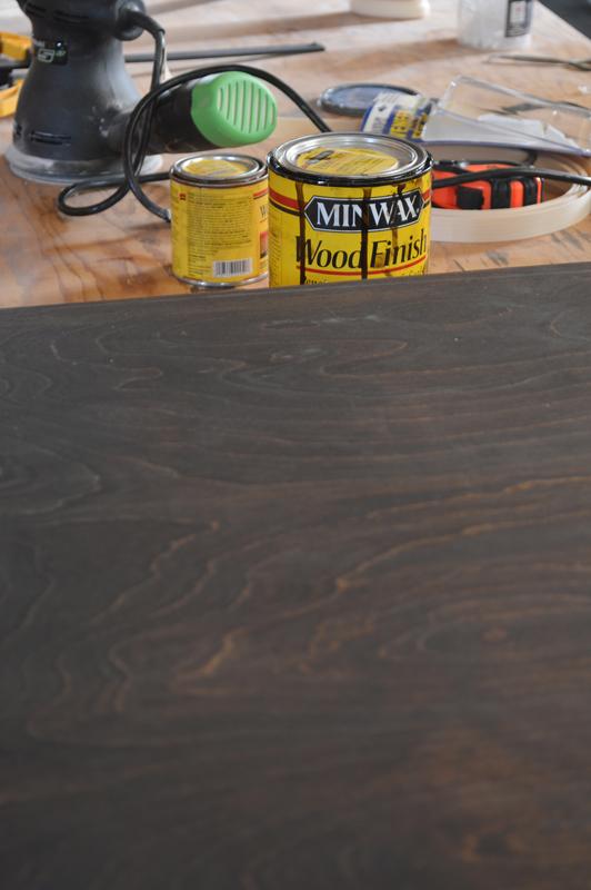 Creating a sleek plywood tabletop -- Plaster & Disaster