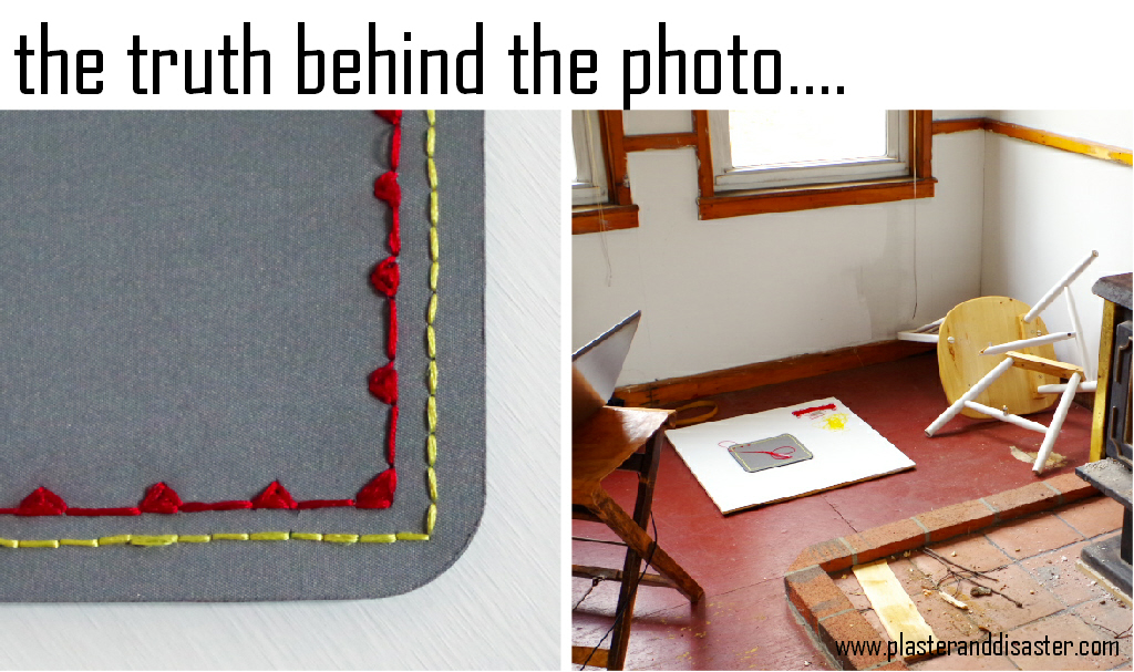 The Truth Behind the Photo - read the whole story at Plaster & Disaster