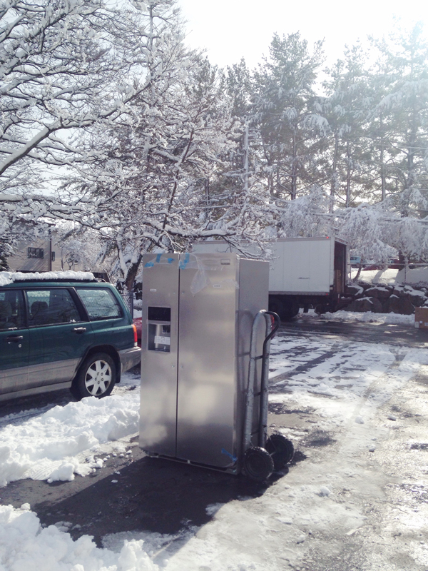 Kitchen renovation -- fridge installation -- Plaster & Disaster