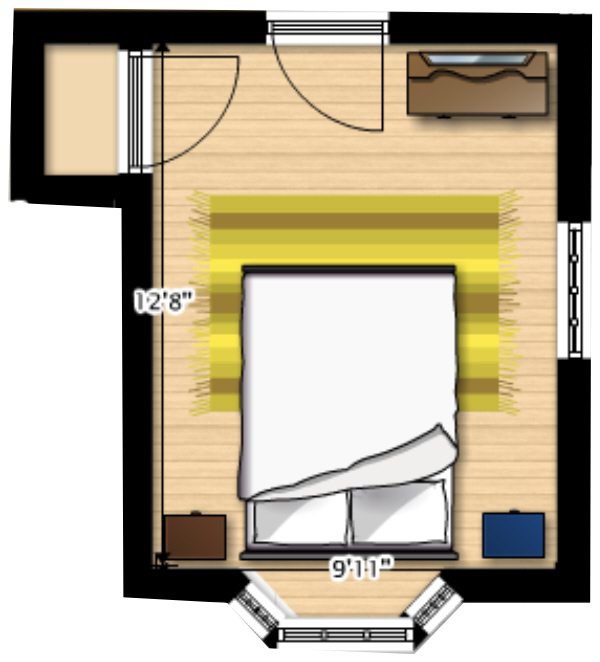 Bedroom Floor Plan Before - Plaster & Disaster