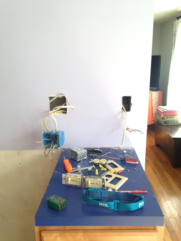 Removing an outlet -- Plaster & Disaster