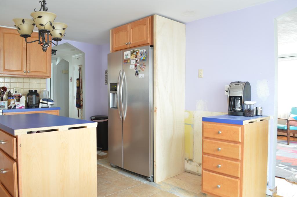 Building a fridge surround -- Plaster & Disaster
