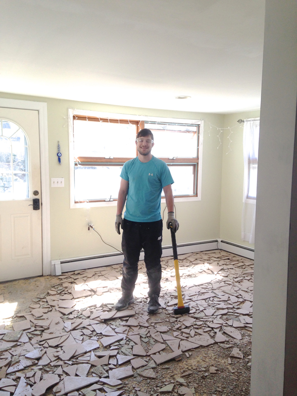Floor No More And How To Mostly Remove Thinset From Wood - Labor cost to remove tile floor