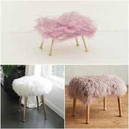 Sheepskin stool -- Plaster & Disaster